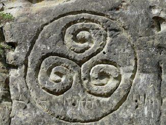 Kelten Steinzeichnung