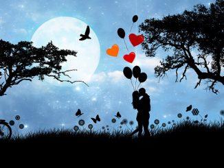 Romantikpaar mund